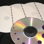 Etykieta antykradzieżowa EM do zabezpieczania płyt CD, książek.